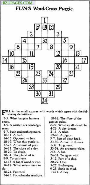 Name:  12. World's First Crossword (1913) Arthur Wynne's Invention.jpg Views: 3945 Size:  49.2 KB