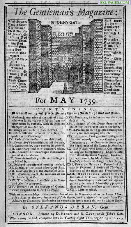 Name:  14. World's First Magazine (1731) The Gentleman's Magazine.jpg Views: 3727 Size:  114.3 KB