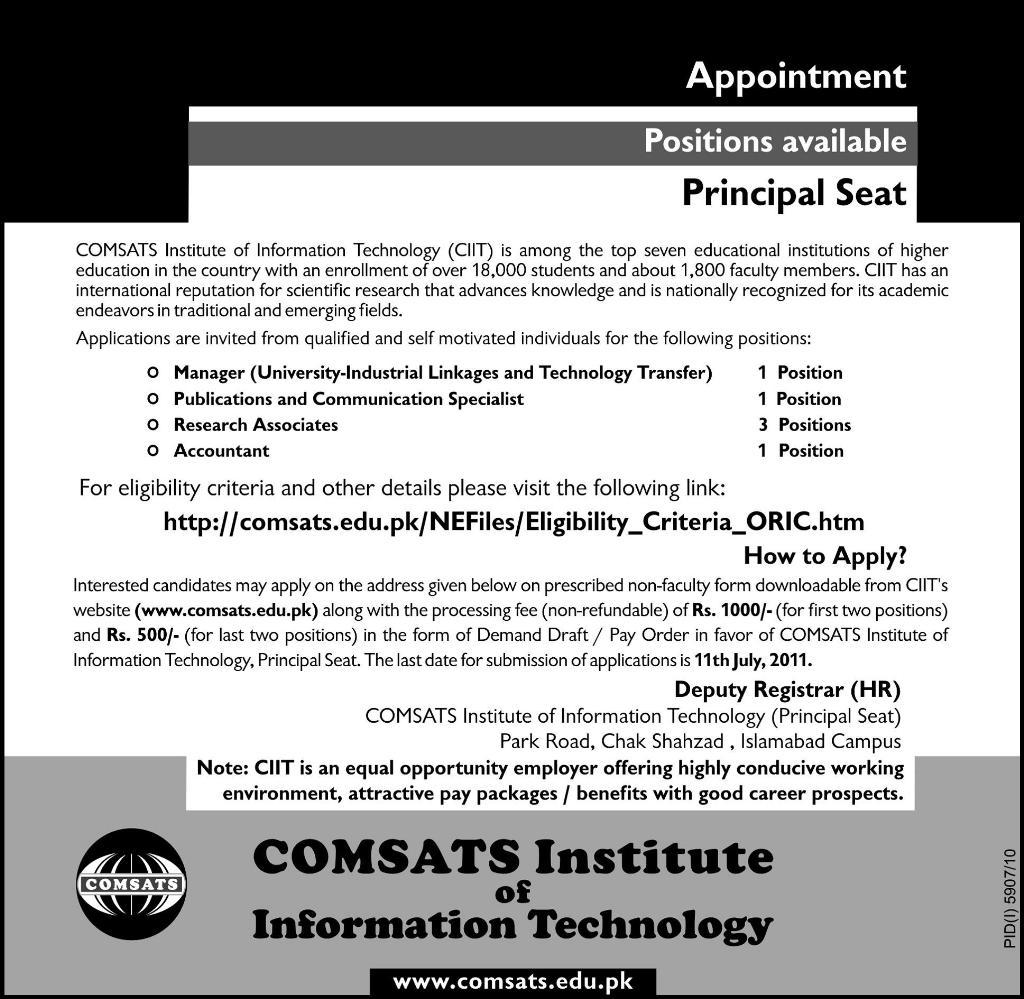 COMSATS Institute of Technology Career Opportunities 2011-comsats-institute-technology-career-oppounities-2011.jpg