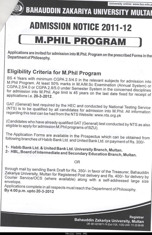 Admission Notice -M.Phil Philosophy BZU 2012-noticemphilphilosophy5march2012.jpg