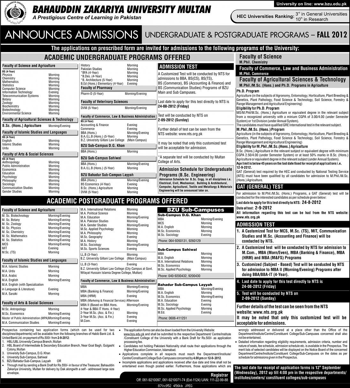 BZU Admission Announced-bzu-admissions-2012.jpg