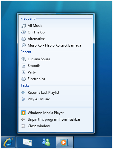 Name:  Windows Media Player JumpList.png Views: 313 Size:  74.0 KB