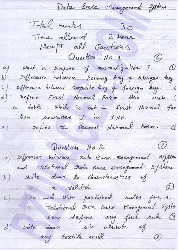 Name:  Data Base Management System MID Term paper BSIT 4th semester BZU Multan Instructor Sir Yousaf.jpg Views: 5562 Size:  77.4 KB